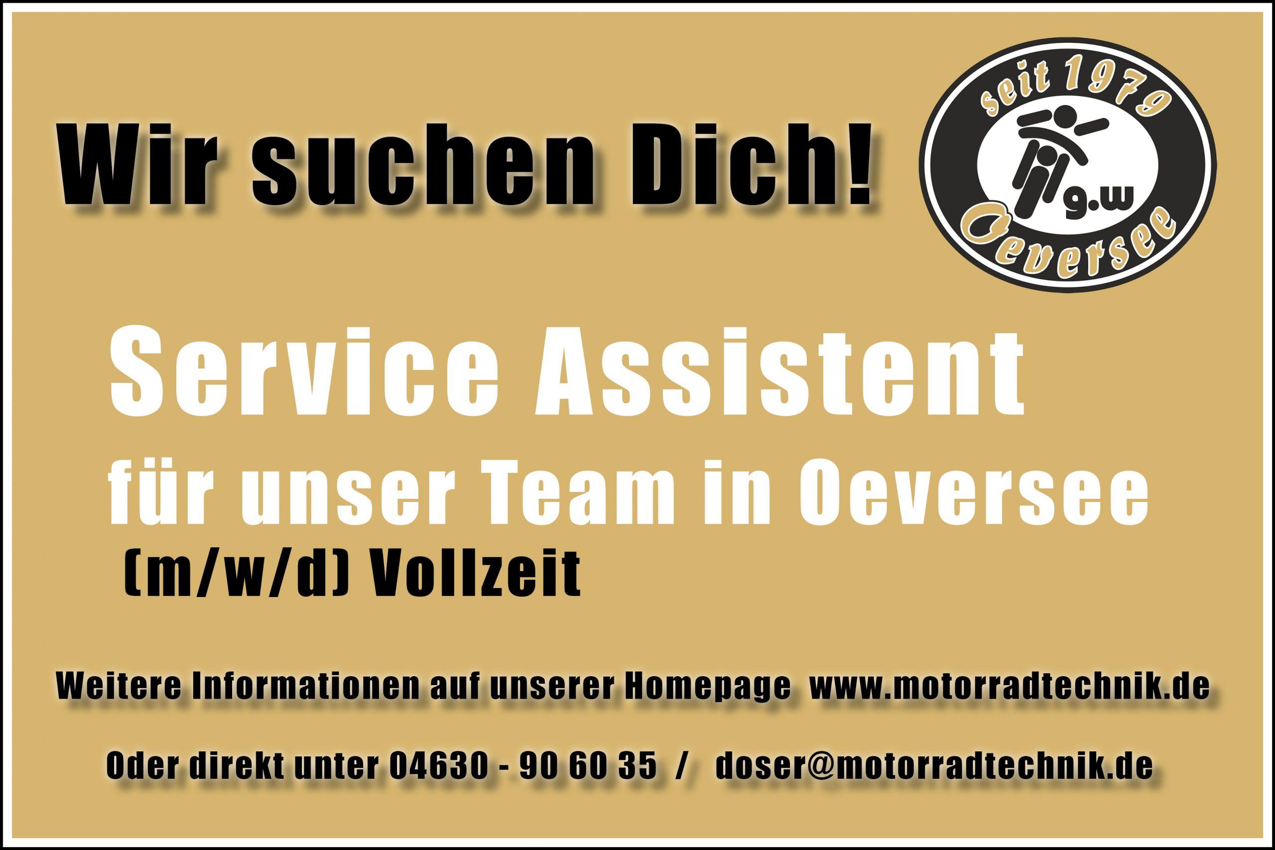 Wir suchen Dich! Service Assistent (m/w/d)