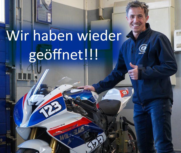 Ab Montag, 8. März 2021: Wilhelmsen Motorradwelt wieder geöffnet!